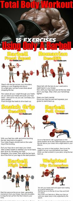 Would you like to tone your whole body with just a dumbbell? Look no further because here we have a super strong, super ripped article on doing just that! so whats the secret behind getting strong? Pick the right barbell exercises. When it comes to toning Barbell Deadlift, Barbell Exercises, Body Exercises, Fitness Exercises, Barbell Weights, Total Body, Full Body, Build Muscle, Muscle Building