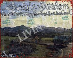 """Absolute Freedom"". LIVIN® mixed media artwork. Available in gallery quality (high-resolution) prints and canvas wraps."