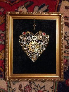 Best Vintage Jewelry Brooch Display Ideas Best Picture For diy jewelry vintage For Your Taste You ar Costume Jewelry Crafts, Vintage Jewelry Crafts, Handmade Jewelry Bracelets, Recycled Jewelry, Antique Jewelry, Vintage Jewellery, Antique Gold, Blue Bracelets, Silver Jewelry