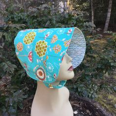 Toddler Sun Hat  BONNET  Sun Hat  Reversible Bonnet  by 4PennyGirl