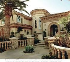 """A modified version of Sater Design's 6910 """"Fiorentino"""" home plan from our Mediterranean house plan collection..."""