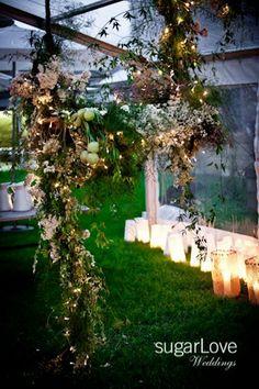 Stunning floral installation by Grandiflora  http://grandiflora.net/weddings