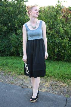 Animal Print Clutch + Target Tank Dress + Peep Toe Wedges