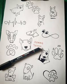 """Mi piace"": 38, commenti: 1 - MORRIS (@morristattoo) su Instagram: ""New sketch PRONTI PER TATTOO Per Info Contattatemi #bullterrier #dogtattoo #sketch #ideatattoo…"""