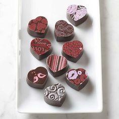 Valentine's Day Chocolate Truffles #williamssonoma
