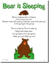 Bear is Sleeping Song