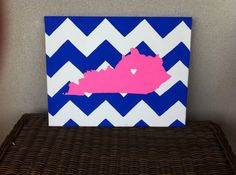 Kentucky & Chevron Canvas....I will have in this in my room....soon hopefully!