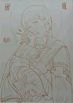 Byzantine Icons, Byzantine Art, Religious Icons, Religious Art, Writing Icon, Russian Icons, Cartoon Sketches, Orthodox Icons, Drawing Lessons