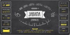 Jabana - Webfont & Desktop font « MyFonts  http://www.myfonts.com/fonts/nils-types/jabana/