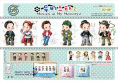 """""""Movies in my memory2' counted cross stitch pattern leaflet. - A new leaflet never used. - Manufactured in Korea. SODA stitch Product. - Only patterns. Fabric, thread, needles, cushions, frames, etc. are not included. 