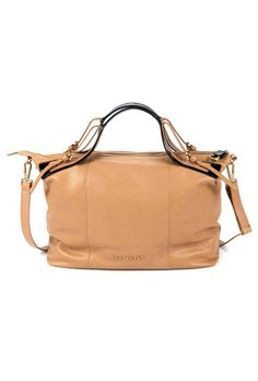 Ted Baker Alum Ted Letters Large Tan Leather Bag £199