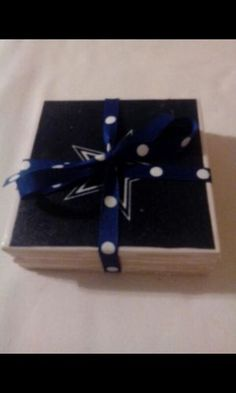 #Sports Team Ceramic Coasters ... DesignsbyRenee #Cowboys #handmade #offerup