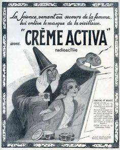 Radioactive beauty cream.