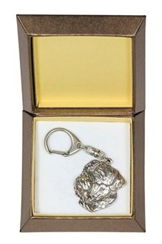 NEW, Dogue de Bordeaux, dog keyring, key holder, in casket, limited edition, ArtDog * Want additional info? Click on the image.