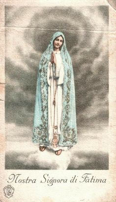 Divine Mother, Blessed Mother Mary, Blessed Virgin Mary, Catholic Art, Catholic Saints, Fatima Portugal, Vintage Holy Cards, Jesus Christ Images, Mama Mary