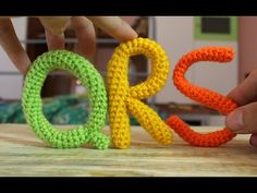 Alphabet Amigurumi ● How to crochet a Q, R and S   World Of Amigurumi - YouTube