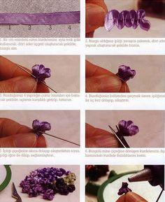 """Милые сердцу штучки: рукоделие, декор и многое другое: Вышивка лентами: """"Сирень"""" (обзор + МК)"""
