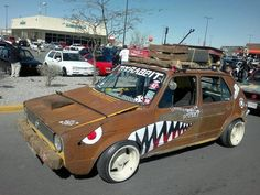 VW Golf mk1 rat style Vw Golf R, Volkswagen Golf Mk1, Vw Mk1, Golf Mk2, Vw Rabbit Pickup, Vw Rat Rod, Vw Caddy 1, Rat Look, Wide Body Kits