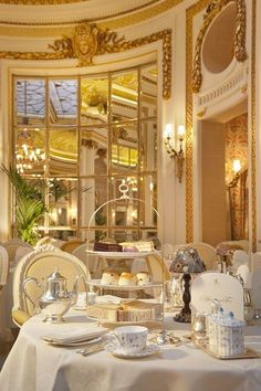 There are few more glamourous options than afternoon tea at The Ritz. There's a piano player! Look at that clotted cream! Dreamy.