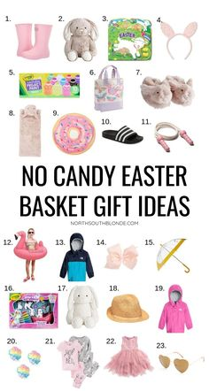 No Candy Easter Basket Gift Ideas for Kids - Gift Guide Affordable, practical gifts for toddlers and kids that they are going to love this Spring! Easter Baskets For Toddlers, Easter Gift Baskets, Easter Crafts For Kids, Basket Gift, Easter Basket Ideas, Easter Projects, Toddler Gifts, Gifts For Kids, Stuffed Animals