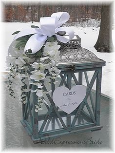 Antique Inspired Wedding Money Card Lantern by WildExpressionsBride  www.wildexpressionsbride.etsy.com
