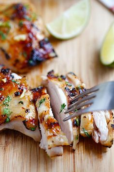 Chili Lime Chicken by rasamalaysia: Moist and delicious chicken marinated with chili and lime and grill to perfection. 30 minutes. #Chicken #Chili #Lime #Easy
