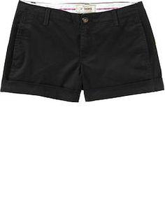 Old Navy Perfect Khaki Shorts(3-1/2) in Black Jack