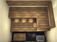 Northern Lights Nagare on rauhallisen tyylikäs ja ajaton, hyvin suunniteltu saunan sisustus. Kitchen Cabinets, Shelves, Curtains, Lights, Saunas, Home Decor, Shelving, Blinds, Decoration Home