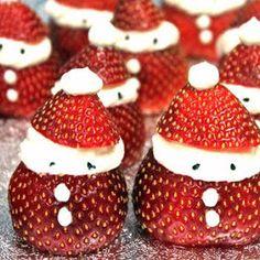 Vickys Strawberry Santas with Dairy-Free Option recipe snapshot