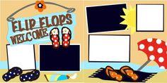 Flip Flops Welcome Scrapbook PageKit $8.00