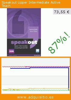 Speakout Upper Intermediate Active Teach (CD-ROM). Baja 87%! Precio actual 73,55 €, el precio anterior fue de 586,25 €. https://www.adquisitio.es/pearson-longman/speakout-upper-1