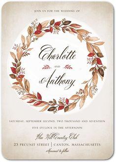 Captivating Wreath - Signature White Wedding Invitations - Lady Jae - Pistachio - Green : Front