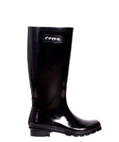 Roma BootsRoma Boots Glossy Black Rain Boots
