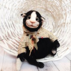 Купить Альтоша:) - комбинированный, котик тедди, котик игрушка, коты ручной работы, коты