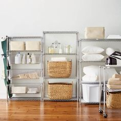FrontGate Tower Shelving with Pull-out Bins