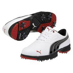 PUMA Amp Sport 18648701 Golf Shoes White/Black/Red