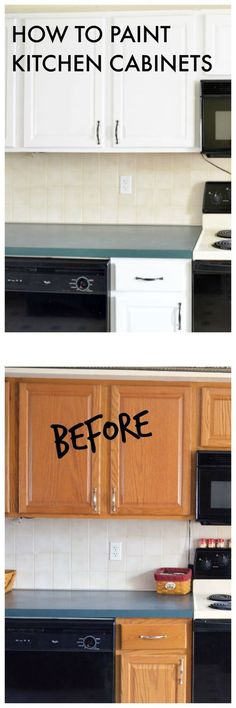 How to Paint Kitchen Cabinets - Before painting my kitchen cabinets, I did a lot of research. I found the perfect way to paint kitchen cabinets. It's not hard, but it will take some time and patience. I love my new white kitchen cabinets and can say that