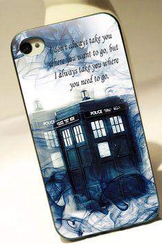 TARDIS DOCTOR WHO SMOKE QUOTES - iPhone 4 Case, iPhone 4s Case and iPhone 5 case Hard Plastic Case OCM