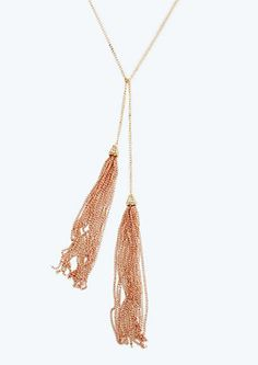 image of Knotted Tassel Necklace