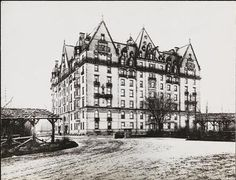"""Dakota Apartments, c1895: Stunning residential building on Central Park West, famous residents including John Lennon who was shot in front of the building. The """"Imagine""""/Strawberry Fields shrine is just inside the park."""