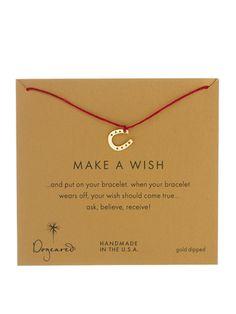 Dogeared Make A Wish Horseshoe Bracelet, $45.88; asos.com #bracelets #budget