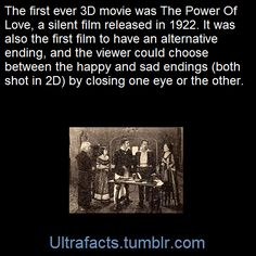 The film utilized the red-and-green anaglyph system for the 3D experience and also gave the audience the option of viewing one of two different endings to the film (in 2D) by looking through only the red or green lens of the spectacles, depending on whether the viewer wanted to see a happy or tragic ending.