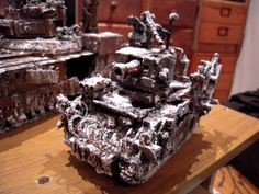 Ork Looted Wagon, Battlewagon, Conversion, Warhammer 40k, Snow, Awesome!