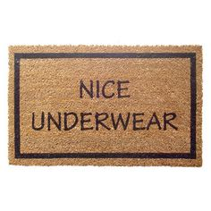 Possibly the best doormat ever