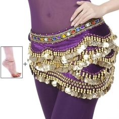 Amazon.com : Mutreso Belly Dance Hip Scarf with 328 Gold Coins 150cm... ($50) ❤ liked on Polyvore featuring accessories, scarves, wrap scarves, velvet scarves, belly dancing scarves, gold scarves and wrap shawl