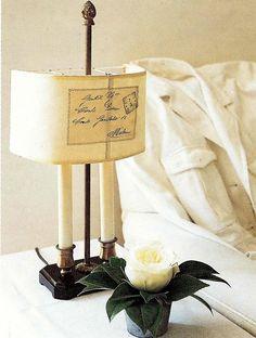 Stamped linen lamp shade  ZsaZsa Bellagio: Pretty Wonderful...