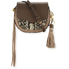 Rebecca Minkoff Suki Mini Leather Crossbody Bag ($290) ❤ liked on Polyvore featuring bags, handbags, shoulder bags, taupe multi, white leather handbags, leather purse, leather crossbody, crossbody purse and leather shoulder bag
