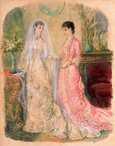 Gallery.ru / Фото #5 - Свадебная мода. Акварельные рисунки из книг мод за 1861-1896 - irgelena
