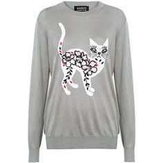 Markus Lupfer - Crazy Cat Embellished Natalie Sweater