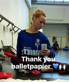 Iana Salenko is an inspiration for Ballet Papier creators! She also wears Ballet Papier ballet T-shirts in her rehearsals and classes! We love her!